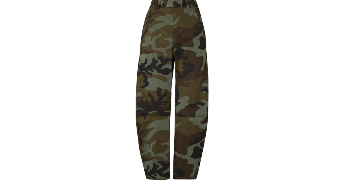 Emerson Camouflage-print Stretch-cotton Wide-leg Pants - Green Nili Lotan Outlet Low Shipping Fee Find Great 2018 Sale Online 7tdaniBk