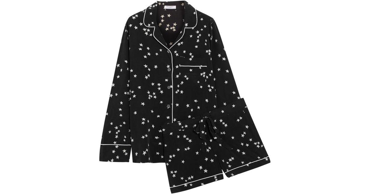 d7d781262e Lyst - Equipment Lillian Washed-silk Pajama Set in Black