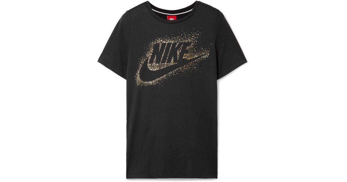 Nike De Camiseta Blanca Estampado Con Estampada Jersey Elástico OEXf4wq