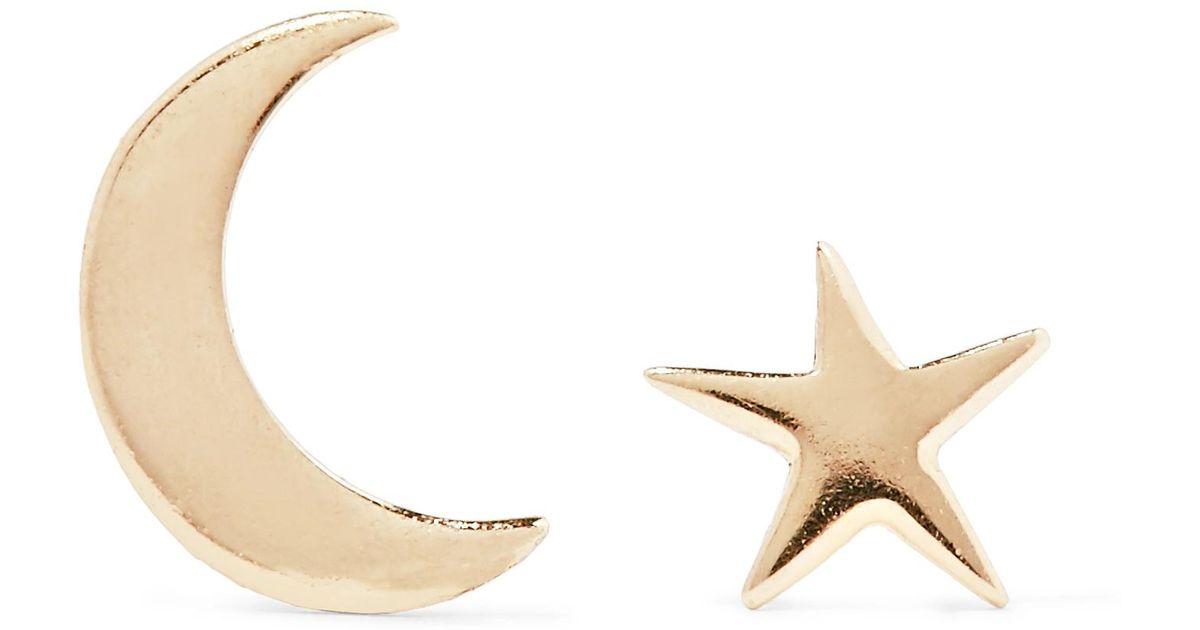 Lyst Catbird Tiny Dancer 14 Karat Gold Earrings In Metallic