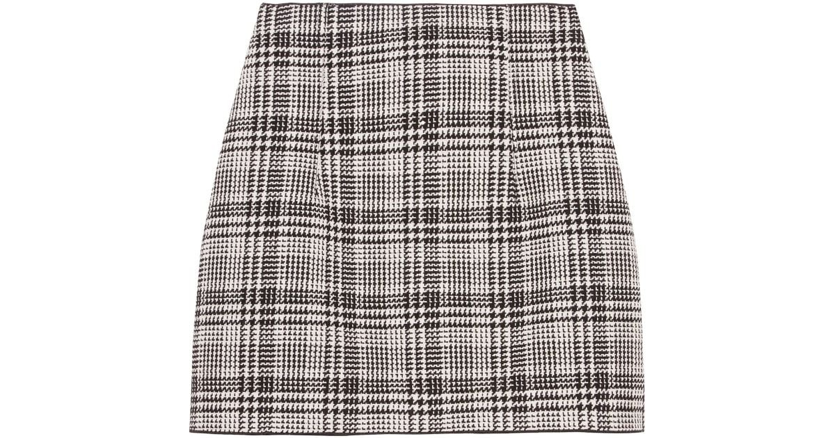 f98f05603668 Lyst - Off-White c o Virgil Abloh Checked Tweed Mini Skirt in Gray