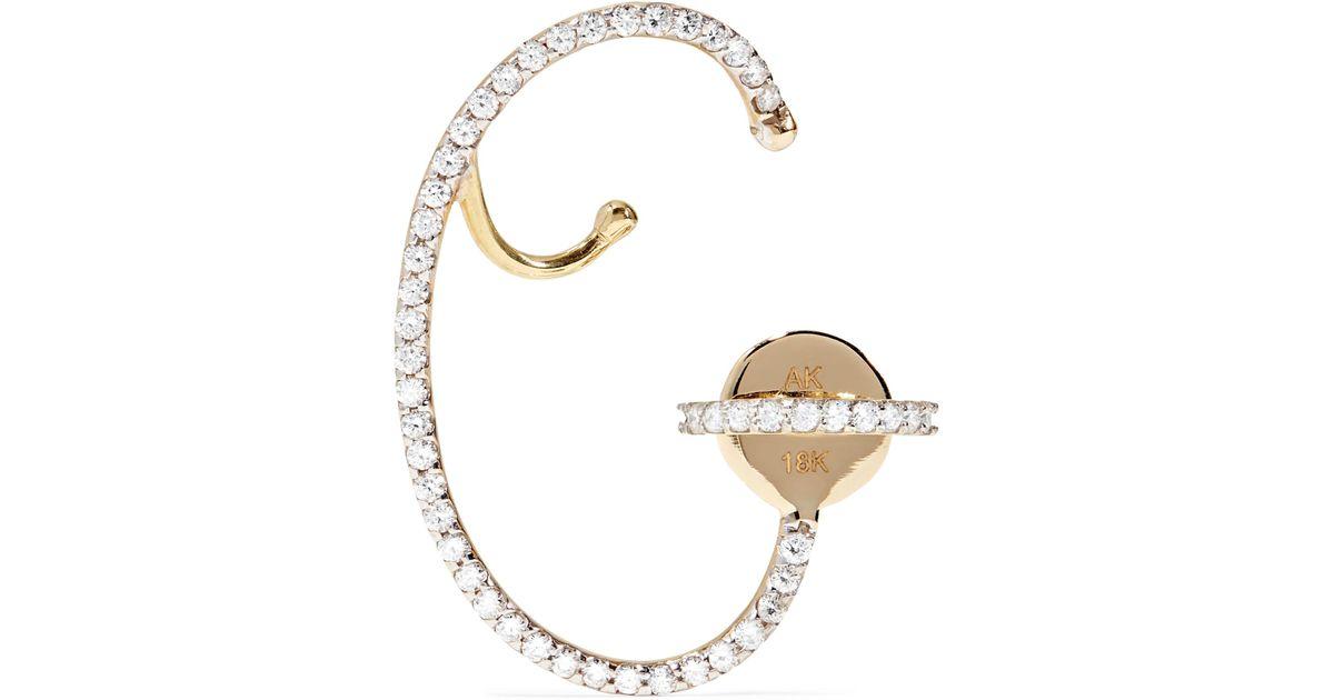 Ana Khouri Multicolored Lily 18-karat Gold Sapphire Earring OiGBu