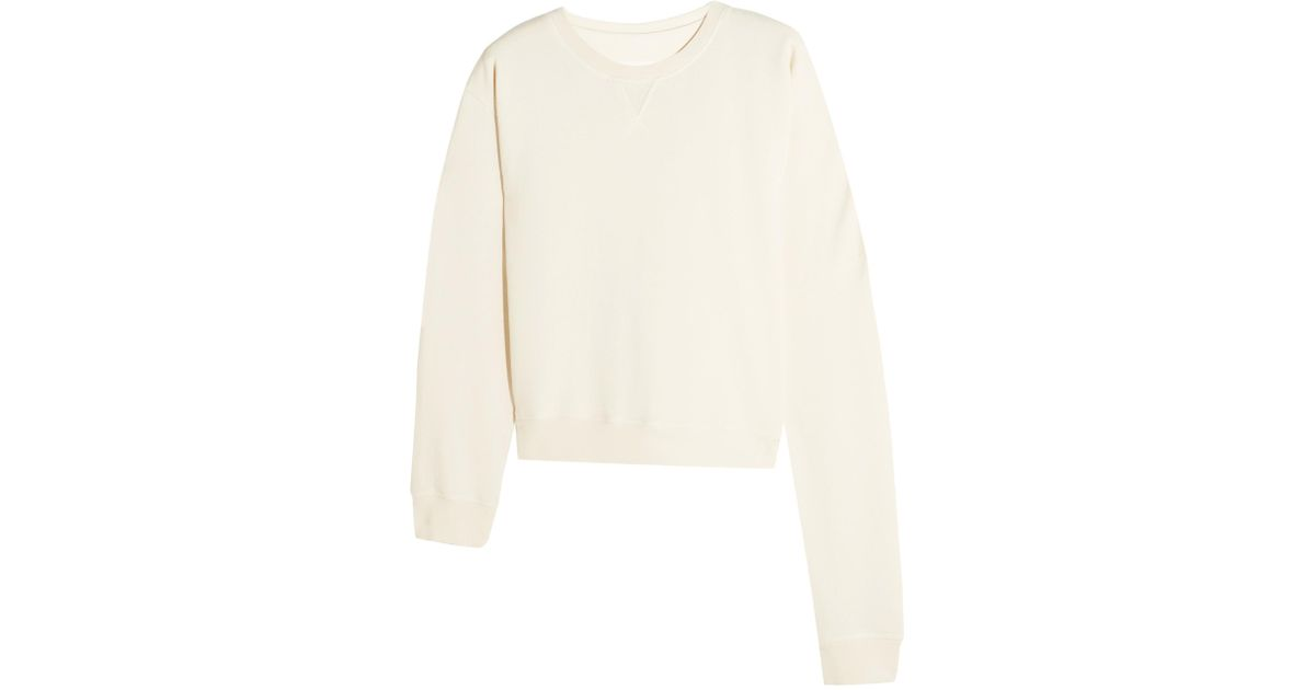 Women's White Oversized Cotton-jersey Sweatshirt