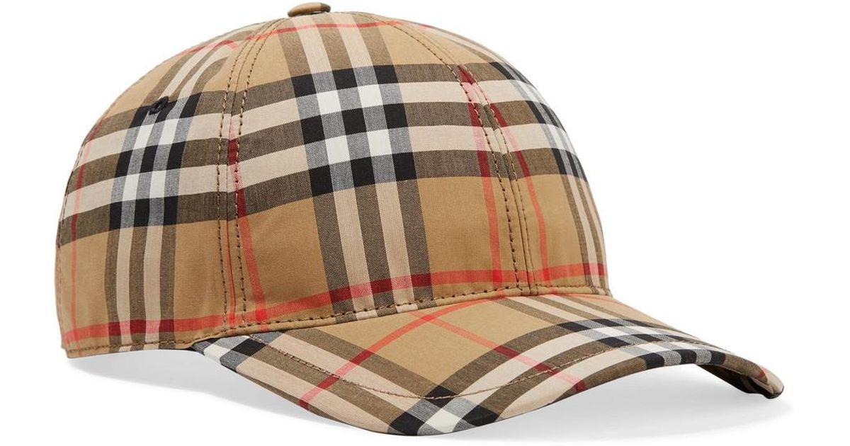 Lyst - Burberry Plaid Baseball Hat - Save 7% bfaab38f9c
