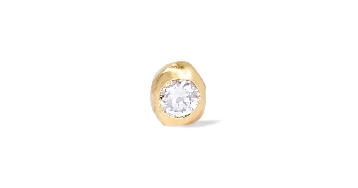 Lyst Wwake Nugget 10karat Gold Diamond Earring in Metallic