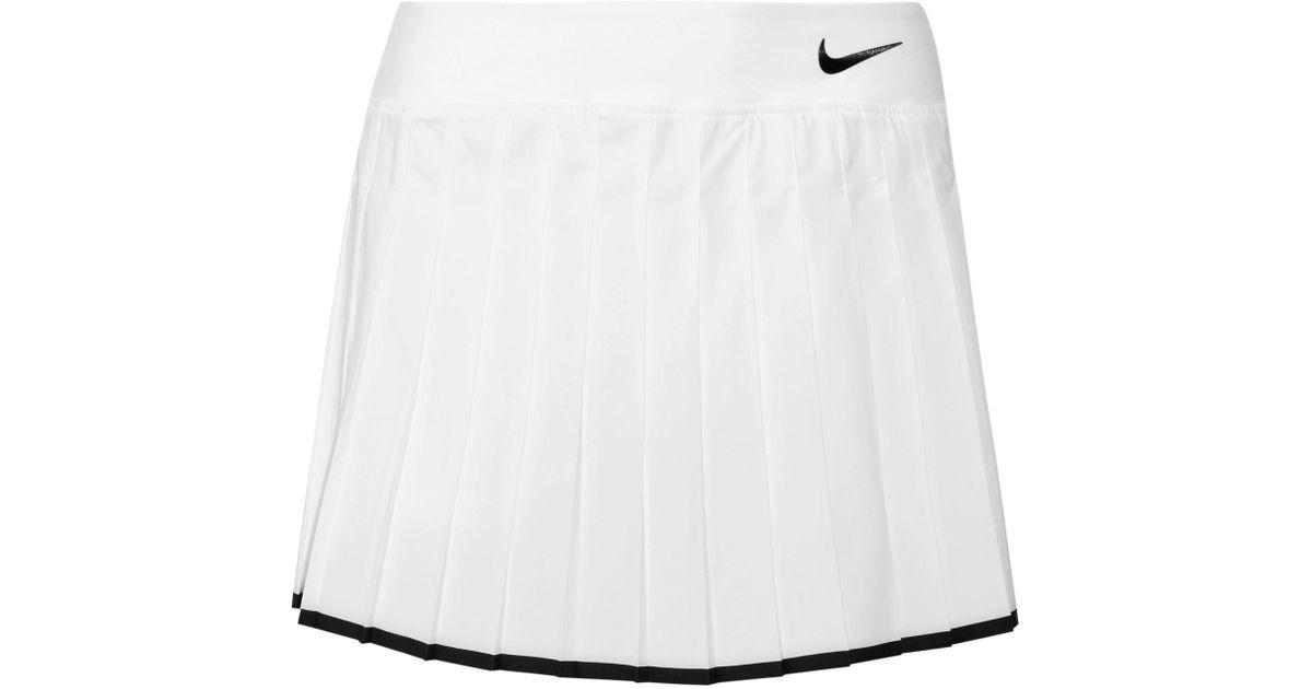 Lyst - Jupe De Tennis Plissée En Dri-fit Stretch Victory Nike en coloris  Blanc fece82916f39