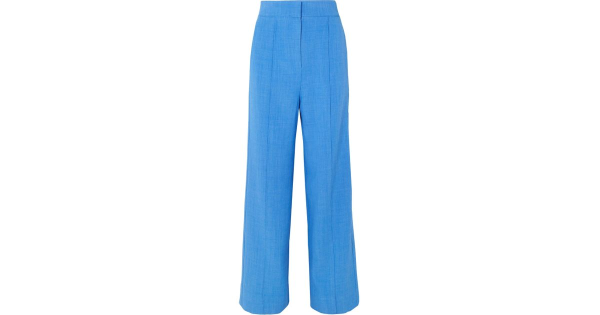 Browse Cheap Online Best Price Lapari Woven Wide-leg Pants - Azure Roksanda Ilincic Footlocker Cheap Online 2018 Sale Online With Credit Card WTjLsH