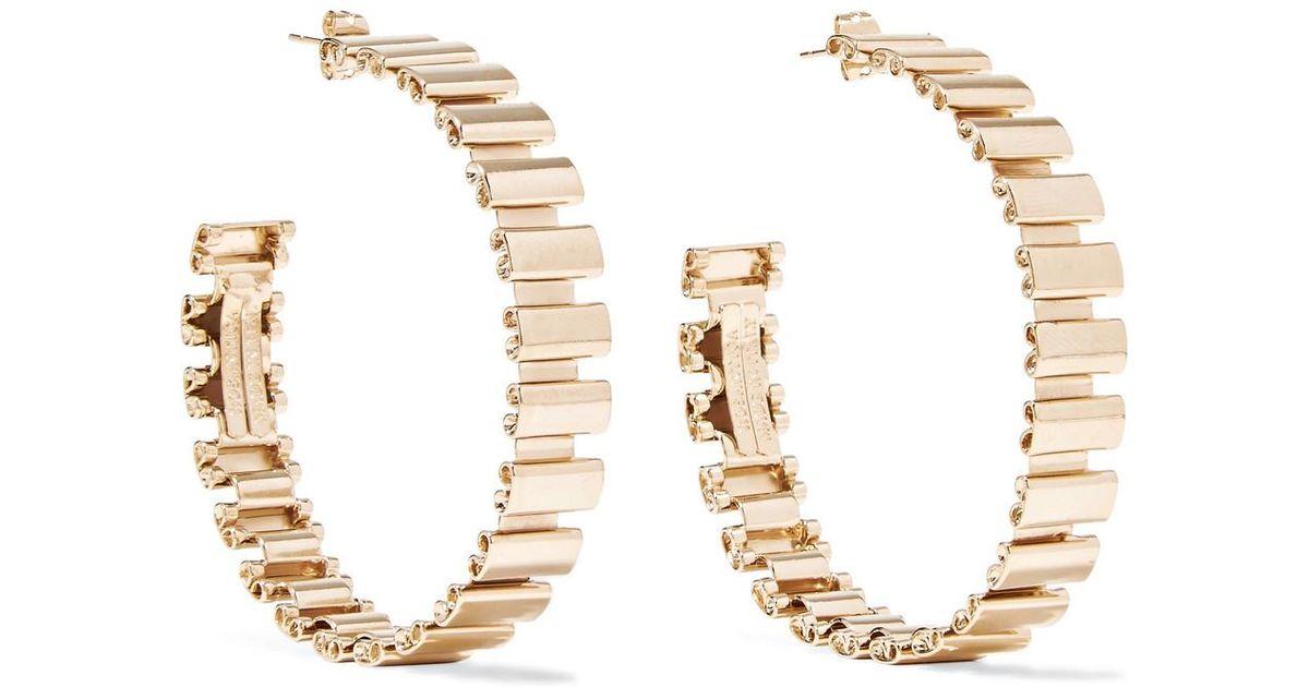 Rosantica Casta Gold-tone Hoop Earrings WtJmZtlZ