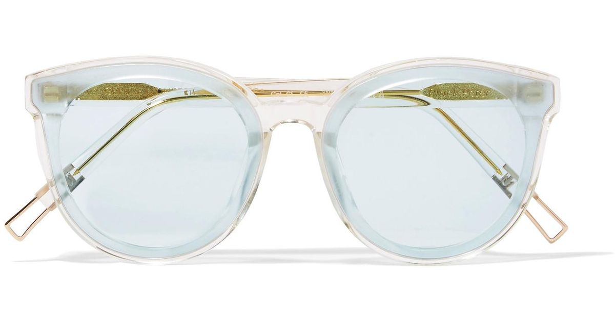 49223f34856 Lyst - Gentle Monster Black Peter Round-frame Acetate And Gold-tone  Sunglasses in Blue