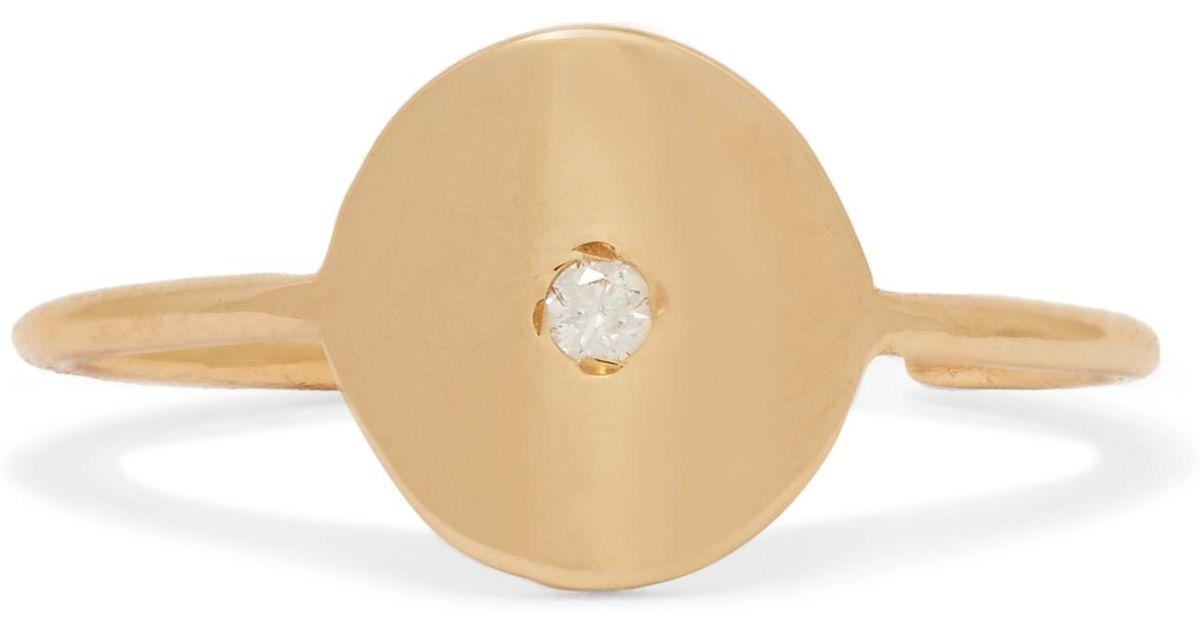 Sansoeurs Sequin 18-karat Gold Diamond Ear Cuff zoS8yDiIX