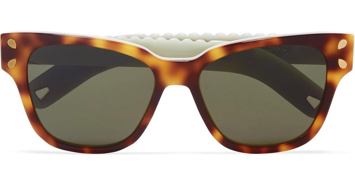 ccbfc3836b Lyst - Lucy Folk Diving For Gold Cat-eye Tortoiseshell Acetate Sunglasses