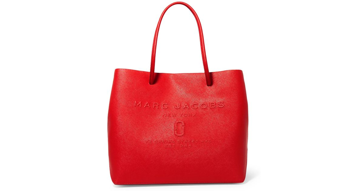 40de6709d2fb Lyst - Marc Jacobs Embossed Textured-leather Tote in Red