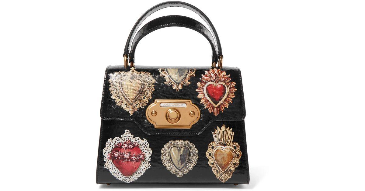 Dolce & Gabbana Bienvenue Petit Fourre-tout En Cuir Effet Lézard - Noir Finishline Sortie Nouveau Vraiment À Vendre Offres Prix Pas Cher p8EEp6v