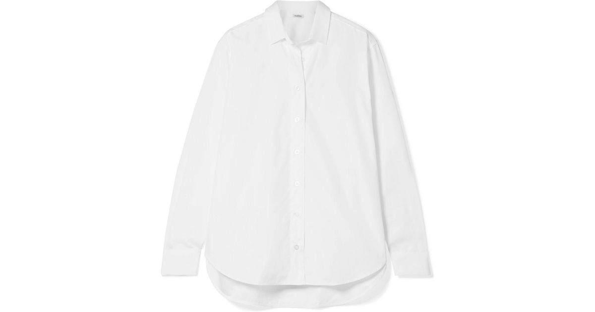 Oversized Cotton-poplin Shirt - White Tot Clearance Best Store To Get 5BqDXnxkIF