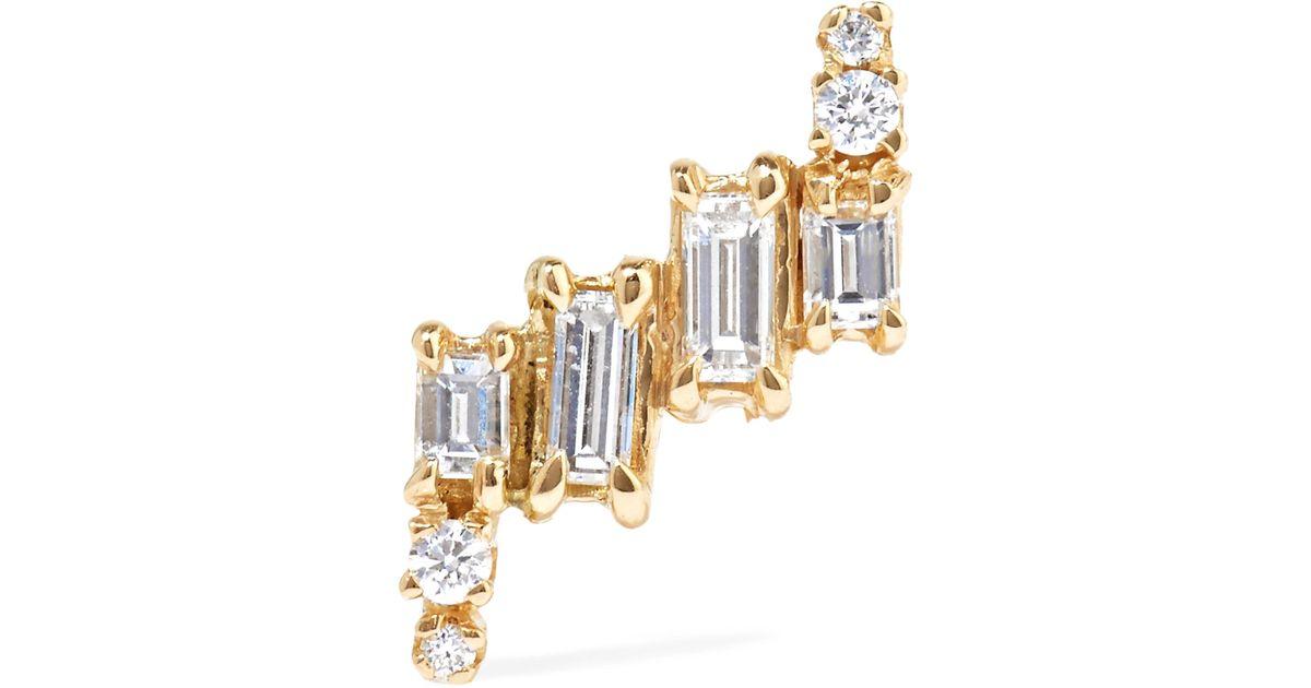 Wwake 14-karat Gold Diamond Earrings wCF68yIEO