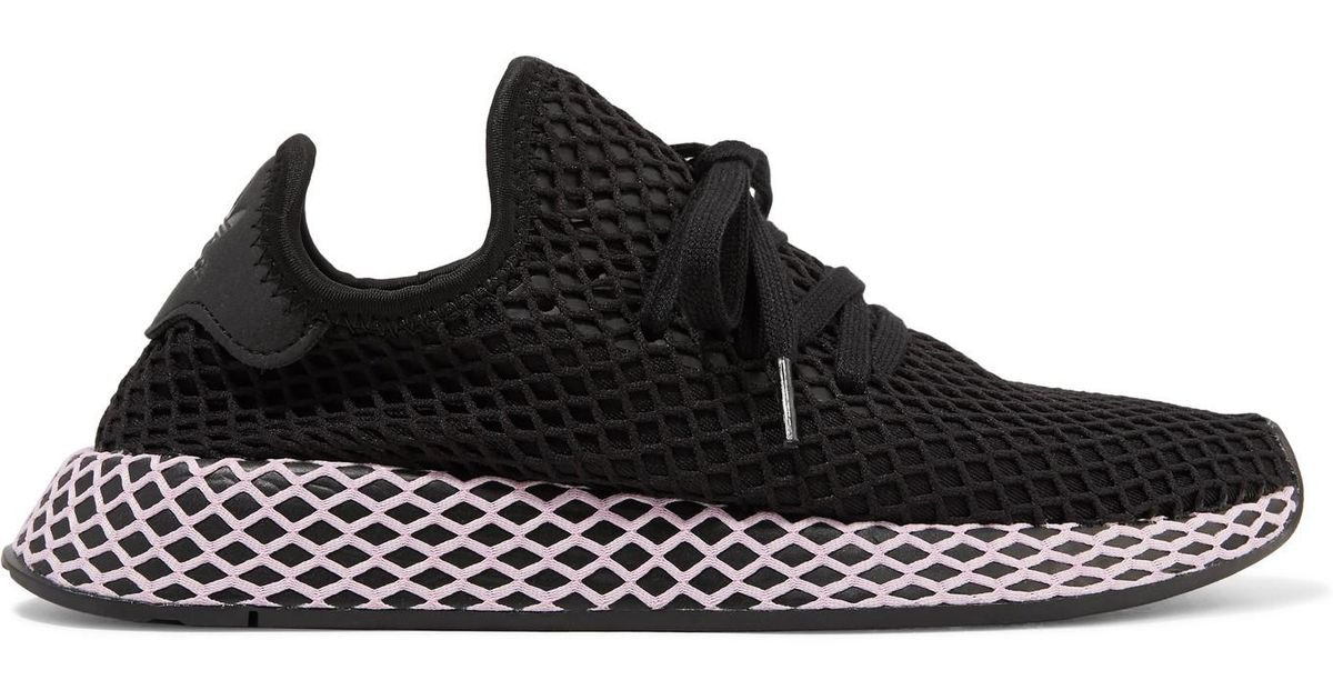 uk availability d5bae 0076b Lyst - adidas Originals Deerupt Runner Suede-trimmed Mesh Sneakers in Black