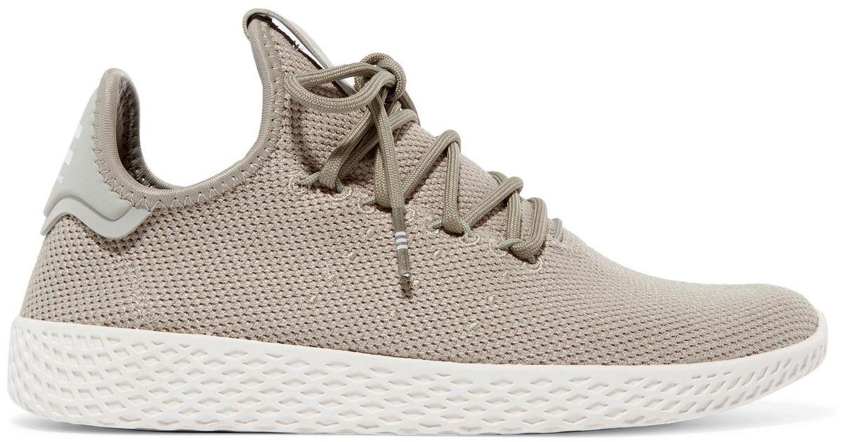 d3a4e82b62655 Adidas Originals + Pharrell Williams Tennis Hu Stretch-knit Sneakers in  Gray - Lyst