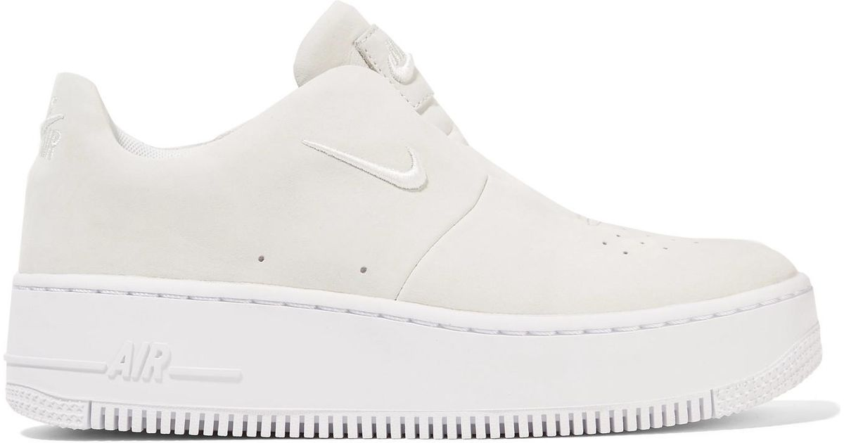 Lyst - Nike The 1's Reimagined Lab Air Force 1 Sage Suede Slip-on Sneakers in White