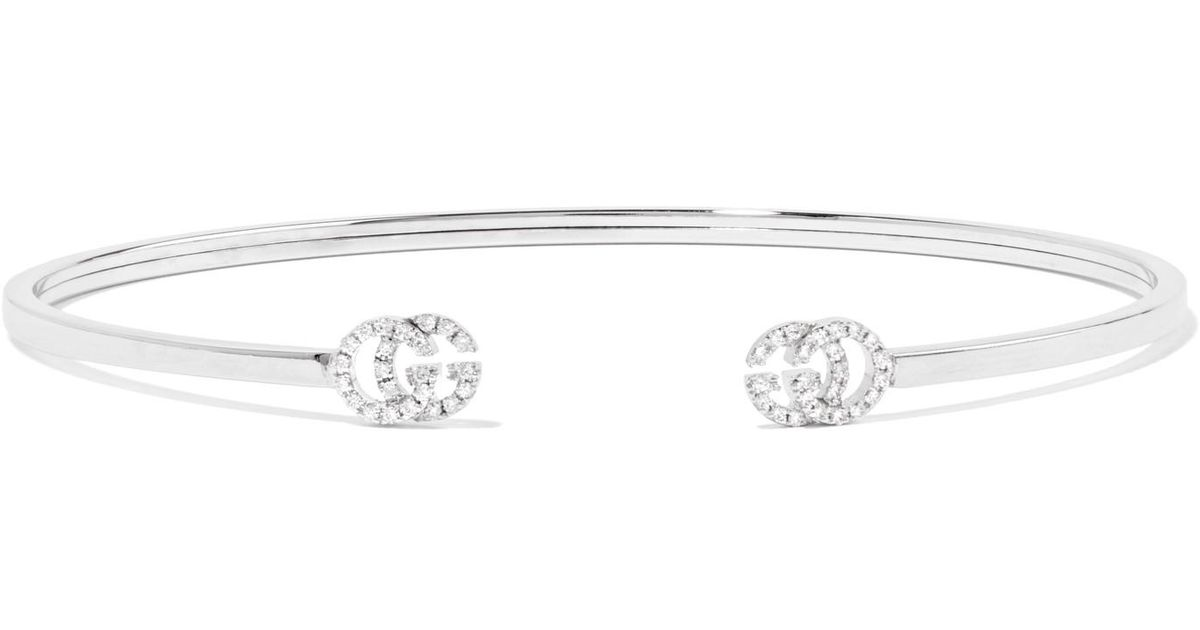 Gucci 18-karat White Gold Diamond Cuff oXzKdedK4K