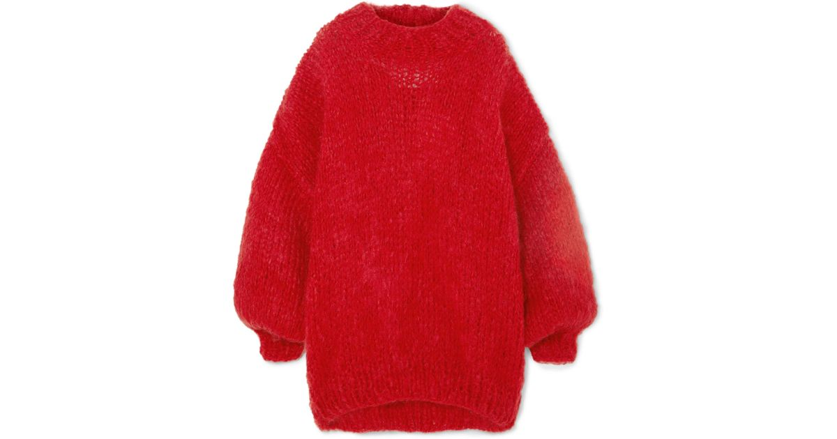 The Knitter The Bubblegum Oversized Wool And Mohair-blend Sweater in Red -  Lyst 041894967