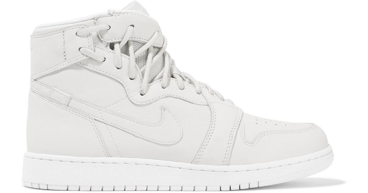 70eee01c2d36 Lyst - Nike The 1 s Reimagined Air Jordan 1 Rebel Suede-trimmed Leather  Sneakers in White
