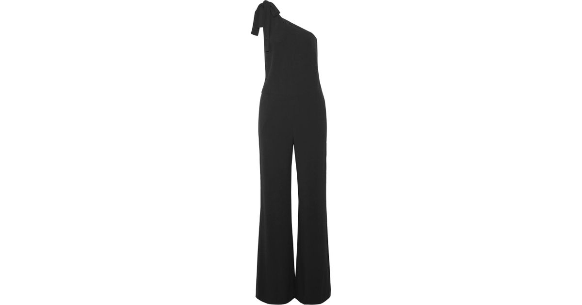 825ea8fa1b76 Lyst - Theory Eilidh One-shoulder Crepe Jumpsuit in Black