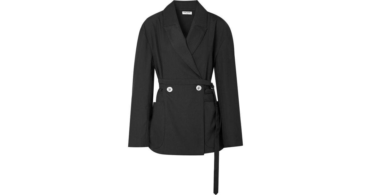 sarga Chaqueta negro con de de tamaño apertura Ceremonia en de cinturón gran OO5xrUBq