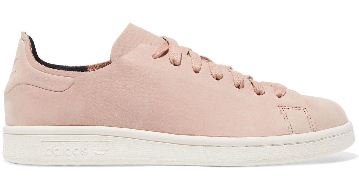 adidas originali stan smith nuud nabuk scarpe rosa lyst