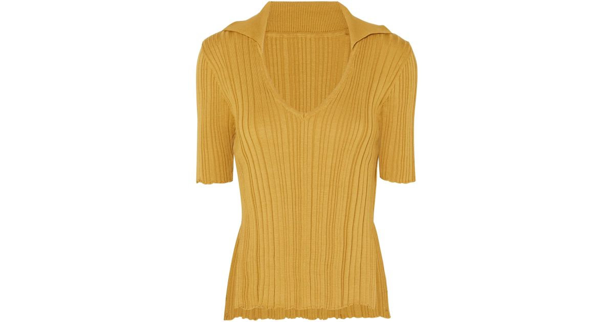 Marinheiro Ribbed Cotton Sweater - Yellow Jacquemus Cheap Buy Authentic eWahMI