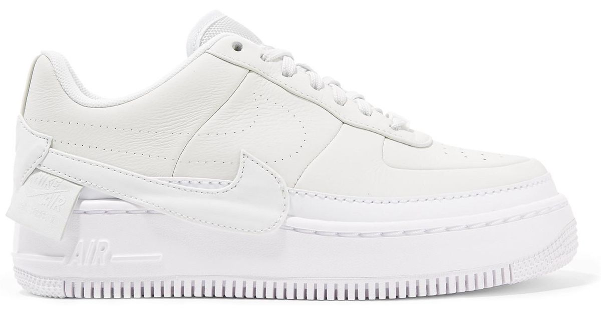 fbd74279879 Lyst - Nike The 1 s Reimagined Air Force 1 Jester Xx Textured-leather Platform  Sneakers in White