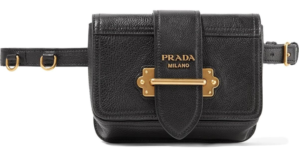 9a44df40698511 where to buy lyst prada cahier textured leather belt bag in black 75ff5  28dcc