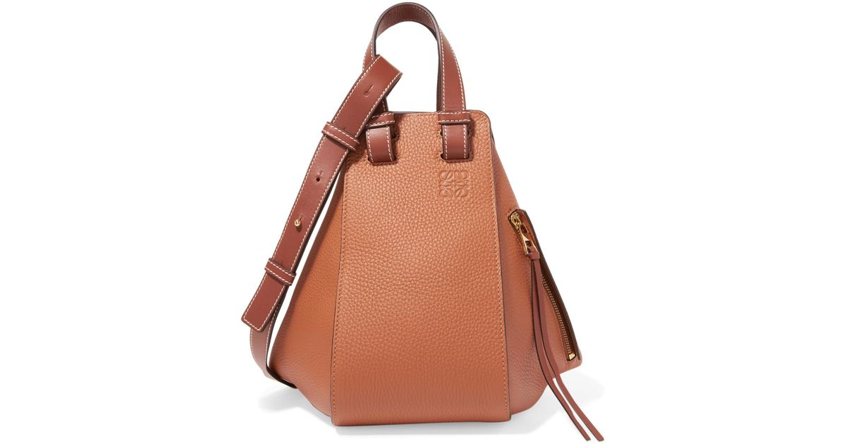8618bc8111a5 Lyst - Loewe Hammock Small Textured-leather Shoulder Bag in Brown