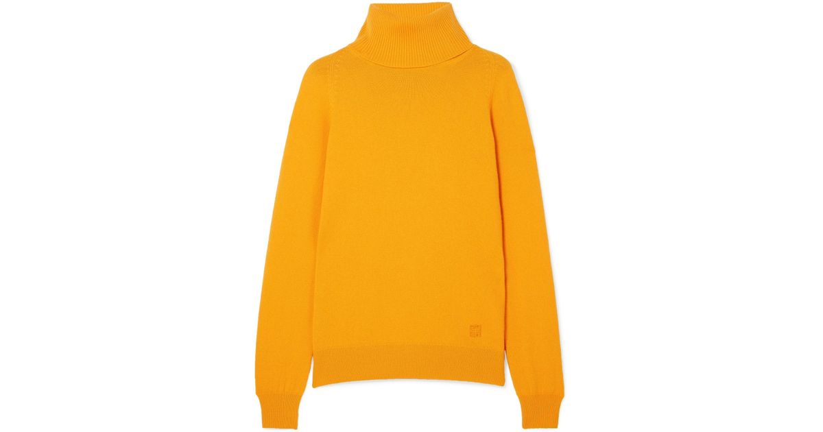 bea07de9dc Lyst - Givenchy Cashmere Turtleneck Sweater in Yellow