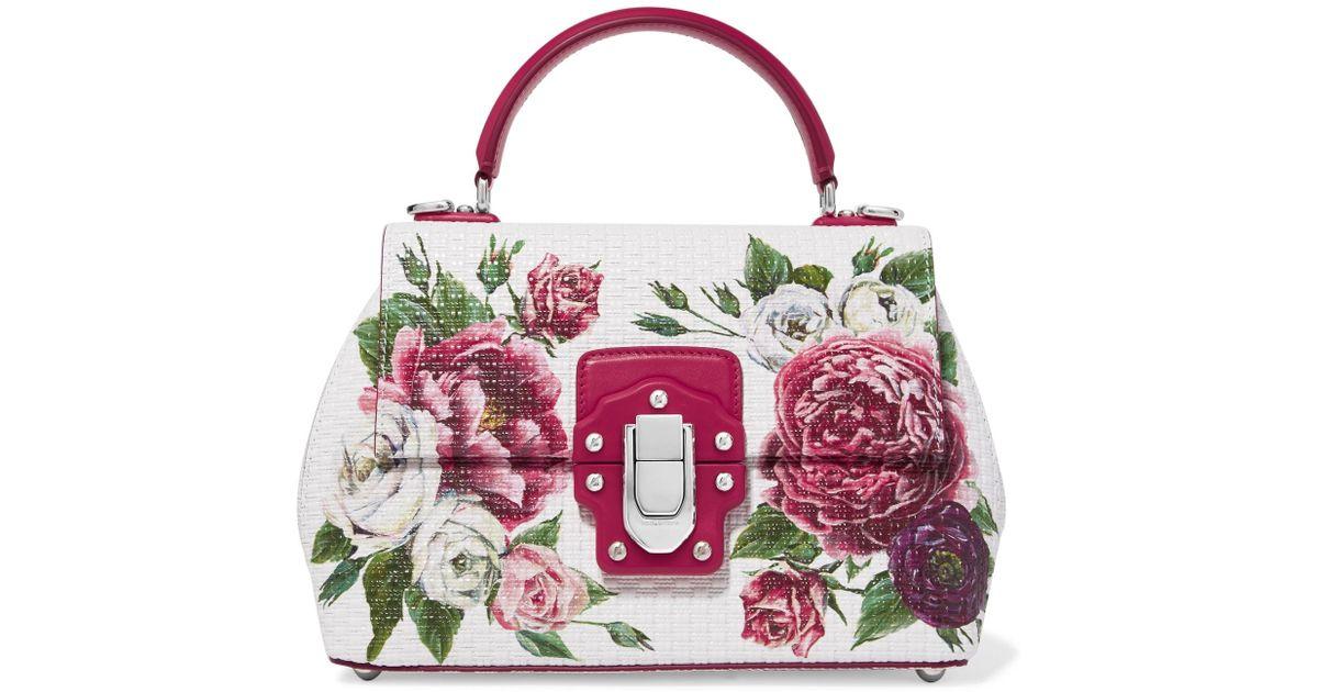 Cuir Texturé Sac Main Dolceamp; Gabbana En À Lucia Imprimé Fleuri xQhCstrd