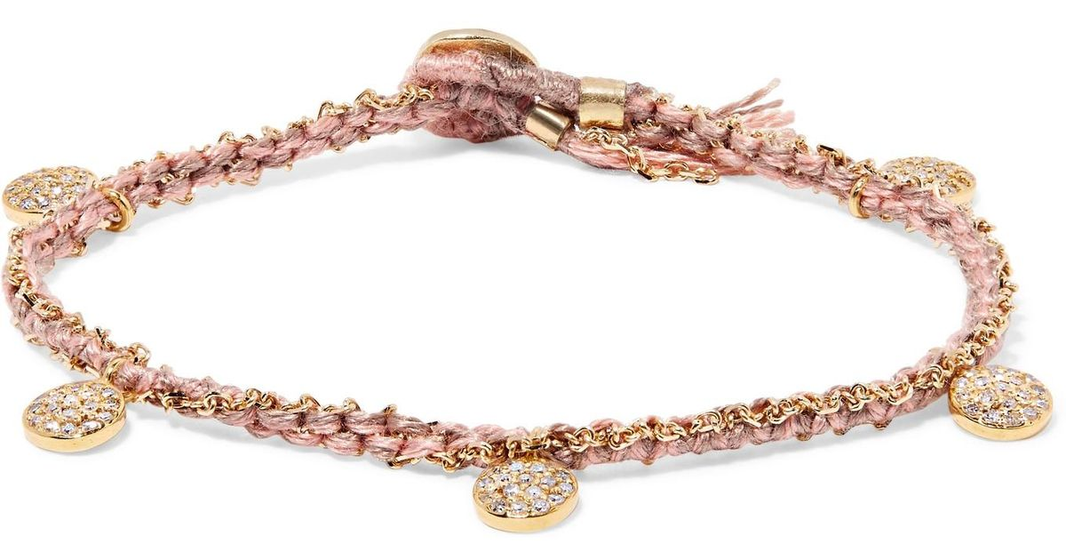 Brooke Gregson Crescent 14-karat Gold, Sterling Silver And Diamond Bracelet