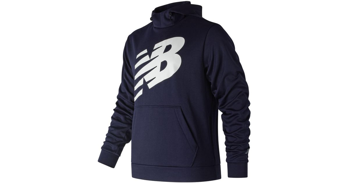 d7341fd231e18 Lyst - New Balance Graphic Nb Corefleece Hoodie in Blue for Men
