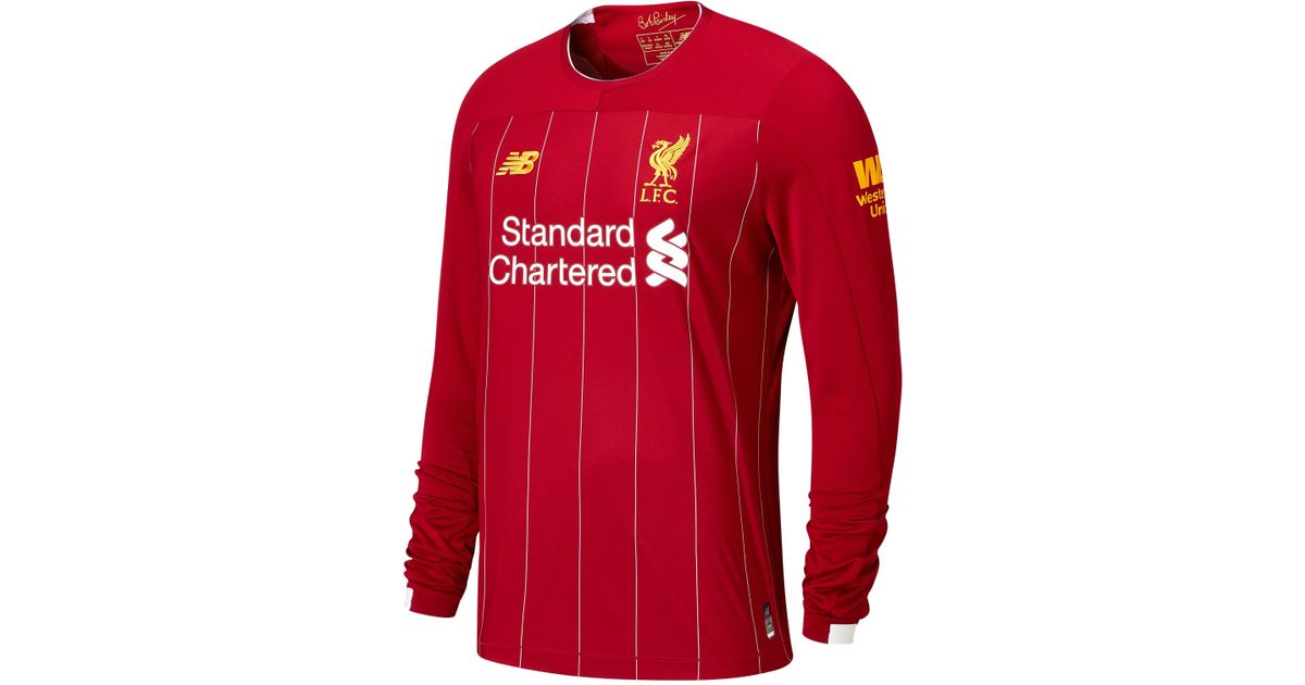 d30ab2a51 New Balance Liverpool Fc Home Ls Jersey Epl Patch in Red for Men - Lyst
