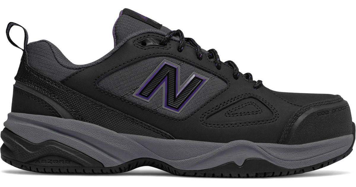 New Balance Steel Toe 627v2 Leather Grey/Pink