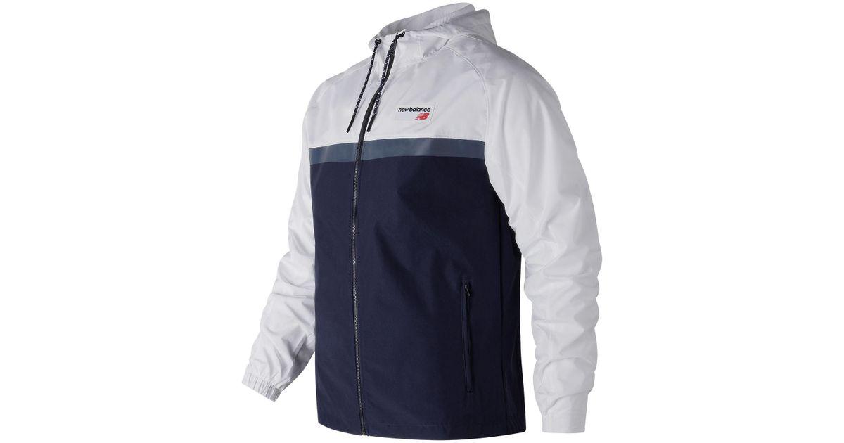 7a393dbaf New Balance Nb Athletics 78 Jacket in Blue for Men - Lyst