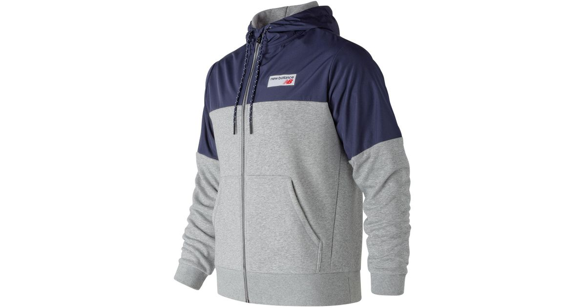6e6a5a0f1491e New Balance Sports Hoodie in Gray for Men - Lyst