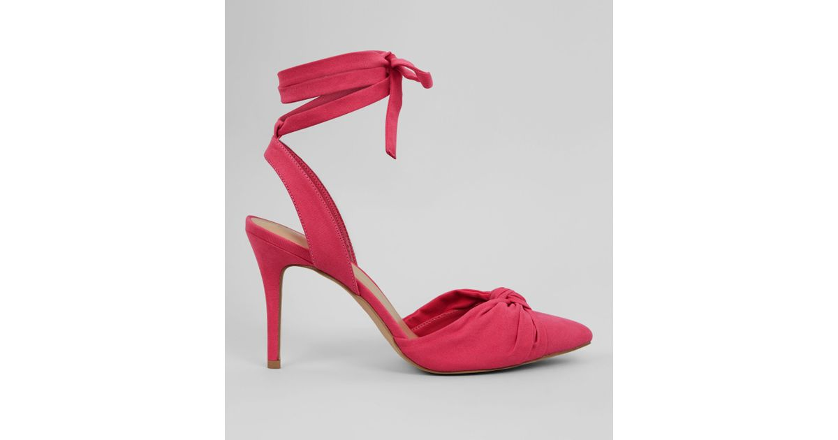 f8f182824 New Look Pink Ankle Tie Pointed Heels in Pink - Lyst