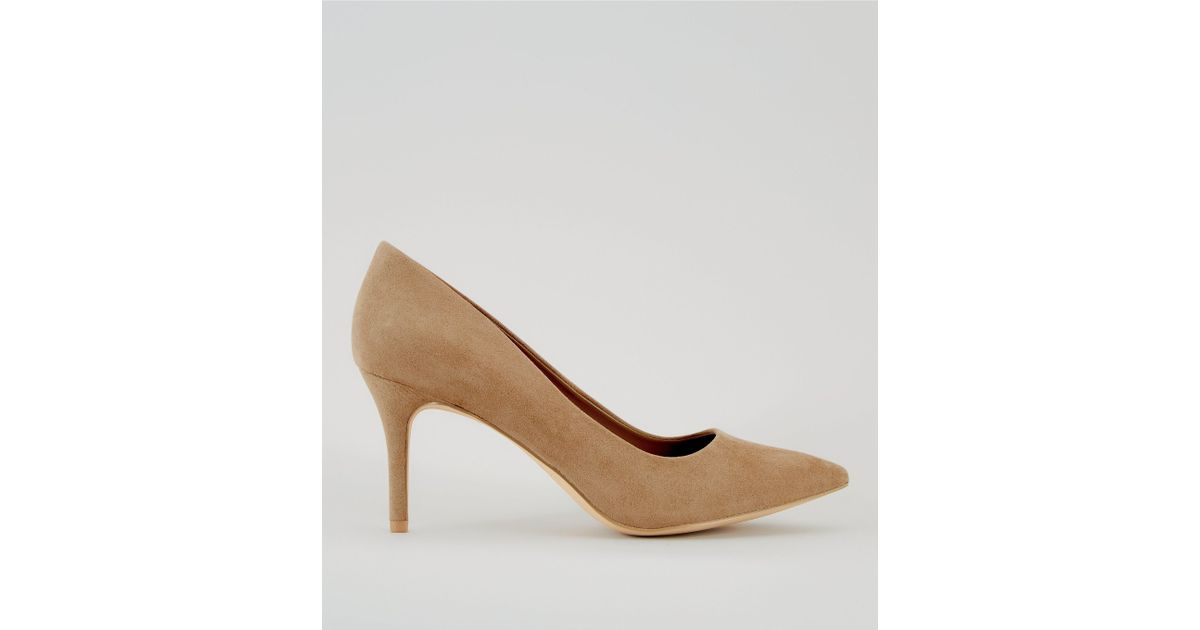 2a94041afd2c New Look Mink Suedette Pointed Heels - Lyst