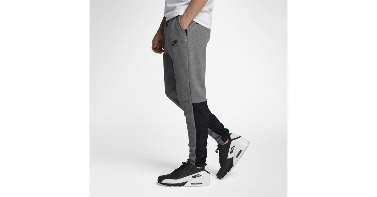 4bb7e91dc4cae ... australia lyst nike sportswear air max mens joggers in black for men  a256a fa8e7