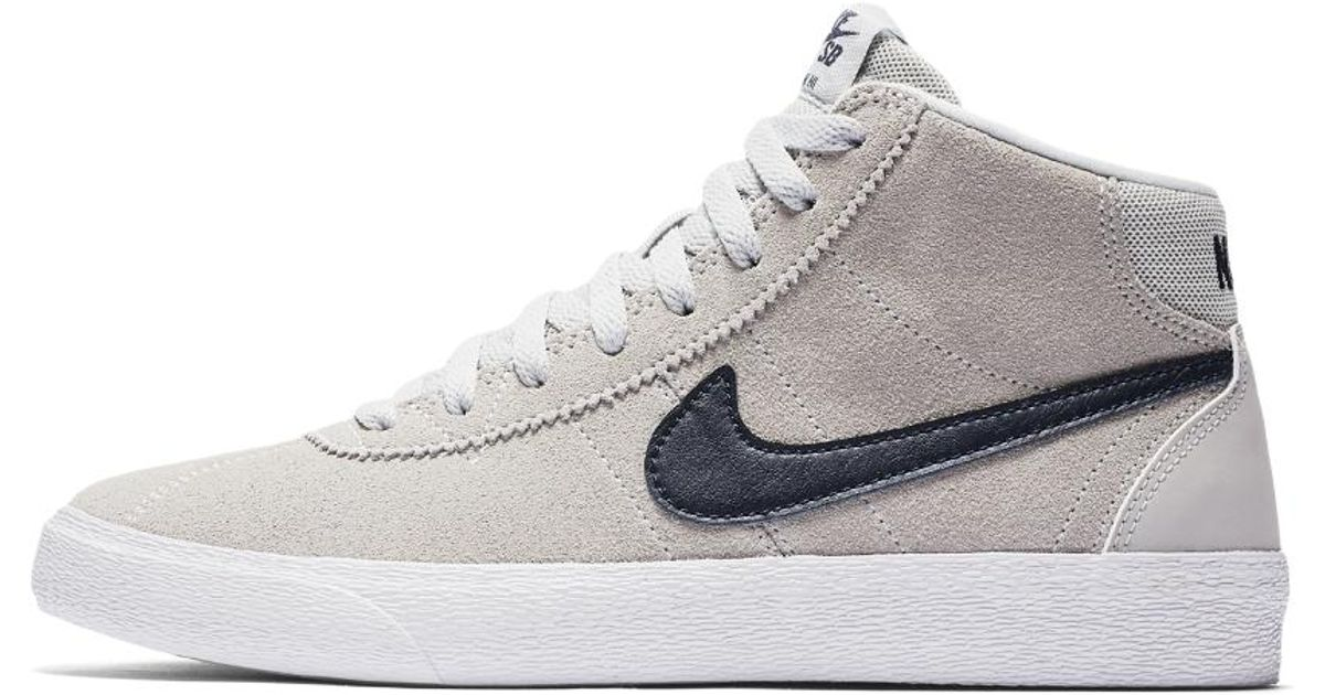 6ecbc3afc0b Lyst - Nike Sb Bruin High Women s Skateboarding Shoe in White