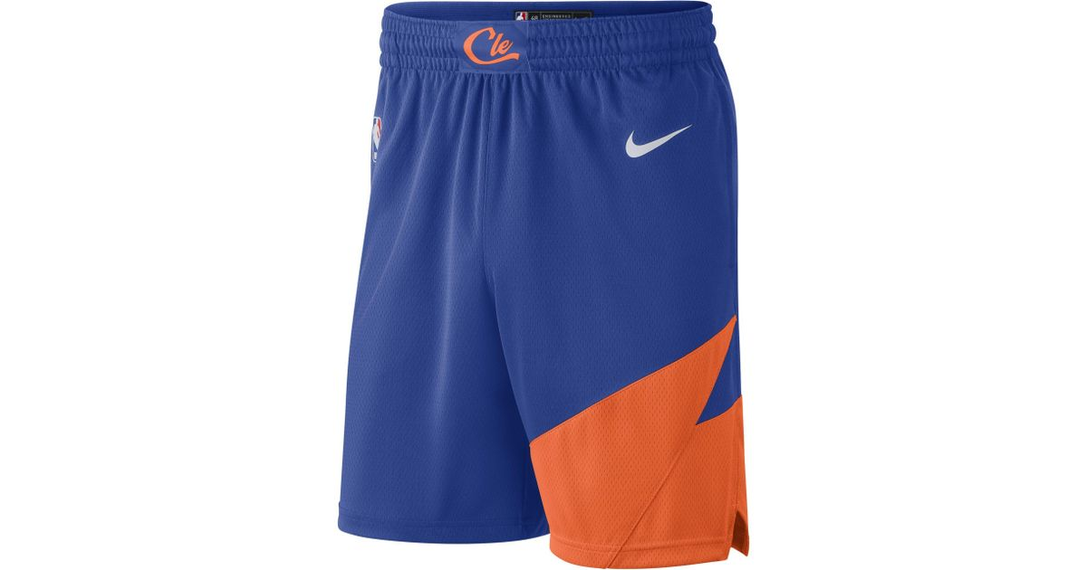 116924b681a Nike Cleveland Cavaliers City Edition Swingman Nba Shorts in Blue for Men -  Lyst