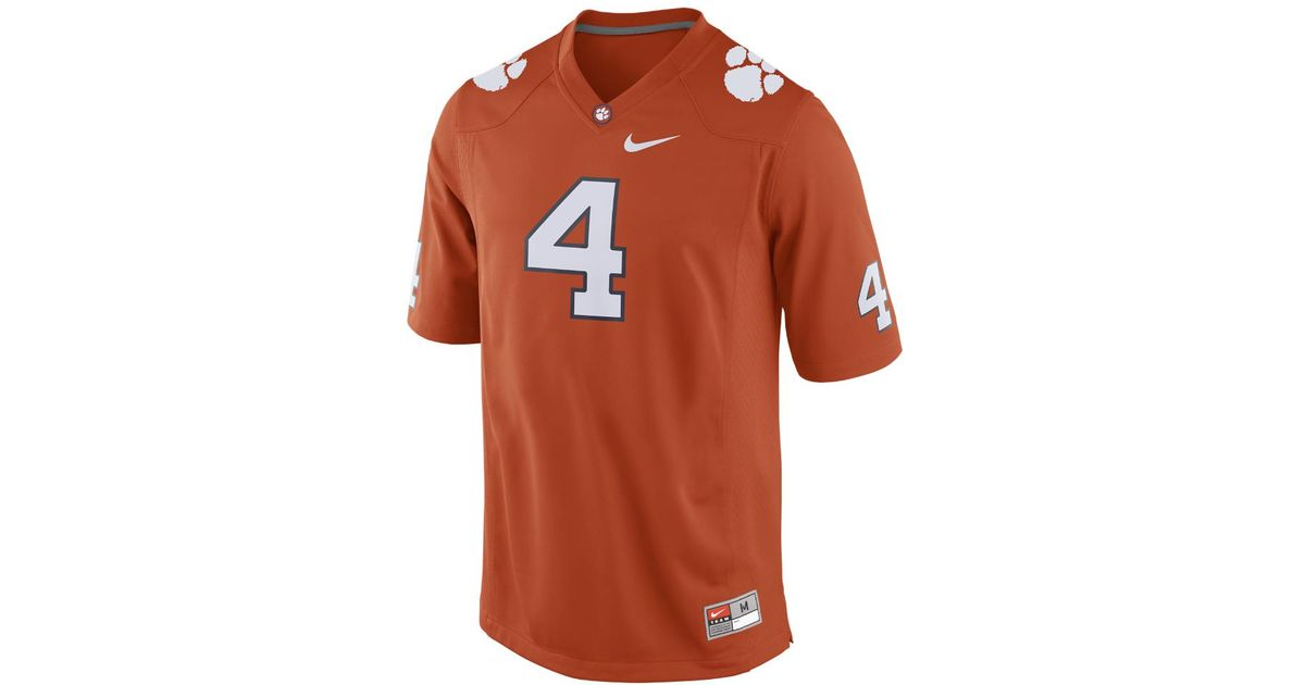 e6932fc46 Lyst - Nike College Player (clemson   Deshaun Watson) Men s Football Jersey  in Orange for Men