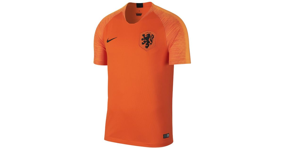 31ea3e1f8e7 Nike 2018 Netherlands Stadium Home Men s Soccer Jersey in Orange for Men -  Lyst