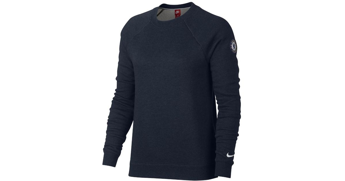 201ebe73e22 Lyst - Nike Chelsea Fc Authentic Men s Crew in Blue for Men