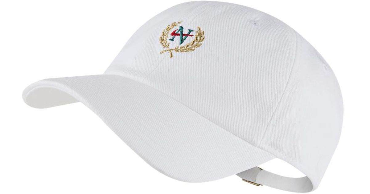 huge selection of 273d3 79d4d ... best lyst nike sb heritage 86 adjustable hat white in white for men  a261e 7cc39