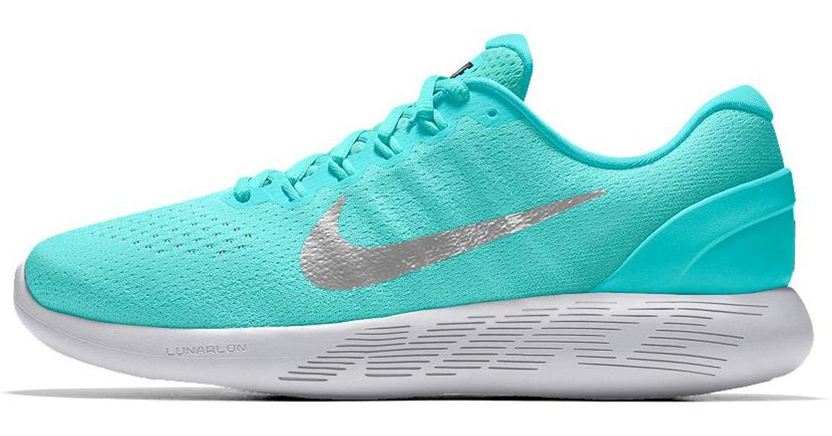 a759b7bbfeca Lyst - Nike Lunarglide 9 Id Women s Running Shoe in Blue
